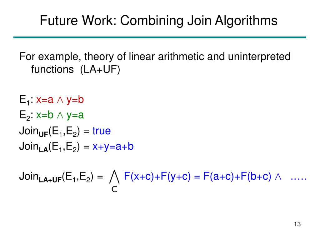 Future Work: Combining Join Algorithms