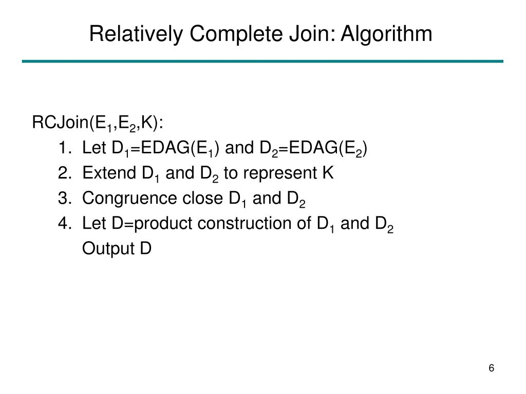 Relatively Complete Join: Algorithm