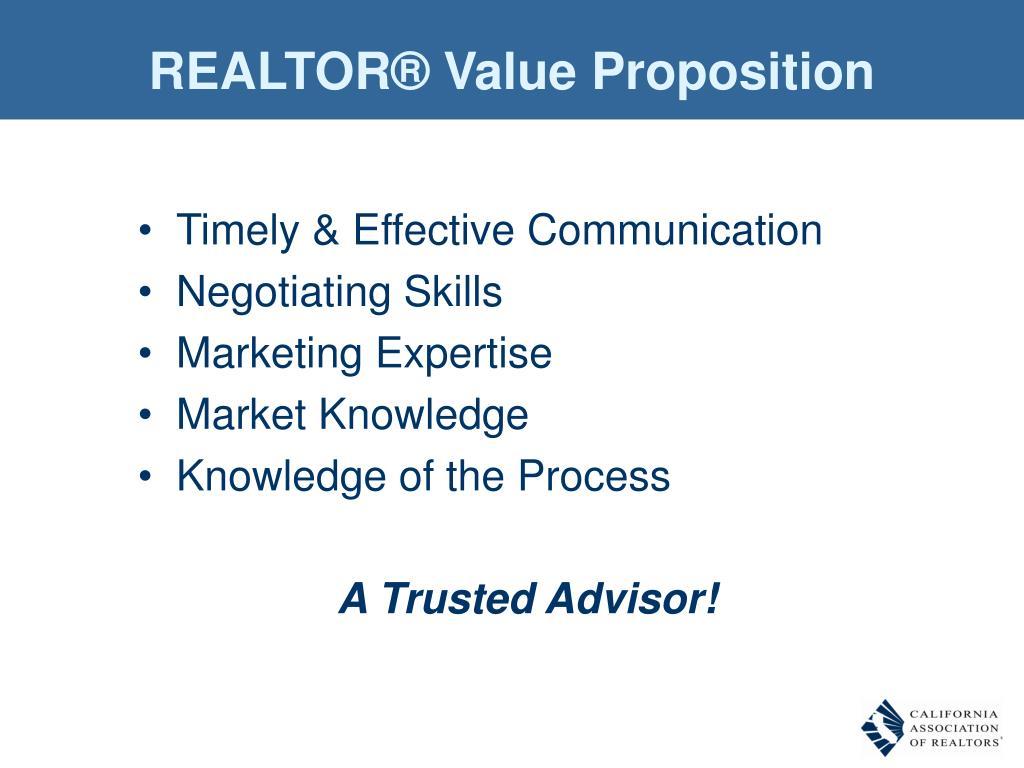 REALTOR® Value Proposition