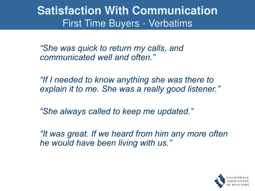 Satisfaction With Communication