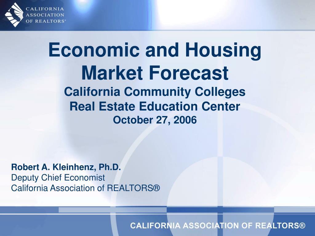 Economic and Housing Market Forecast
