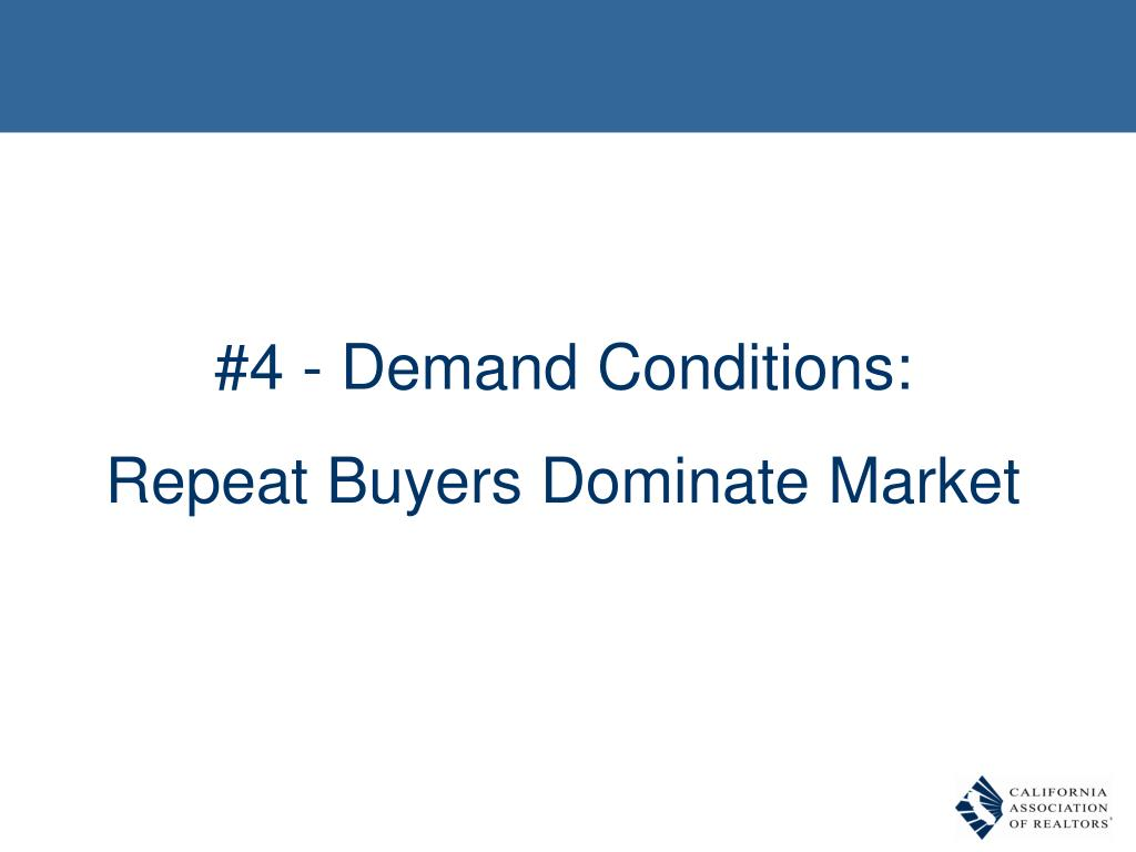 #4 - Demand Conditions: