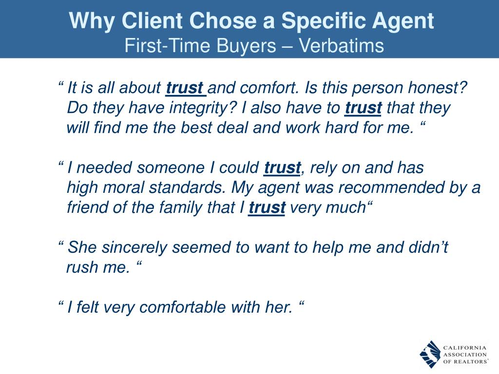 Why Client Chose a Specific Agent