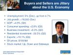 buyers and sellers are jittery about the u s economy