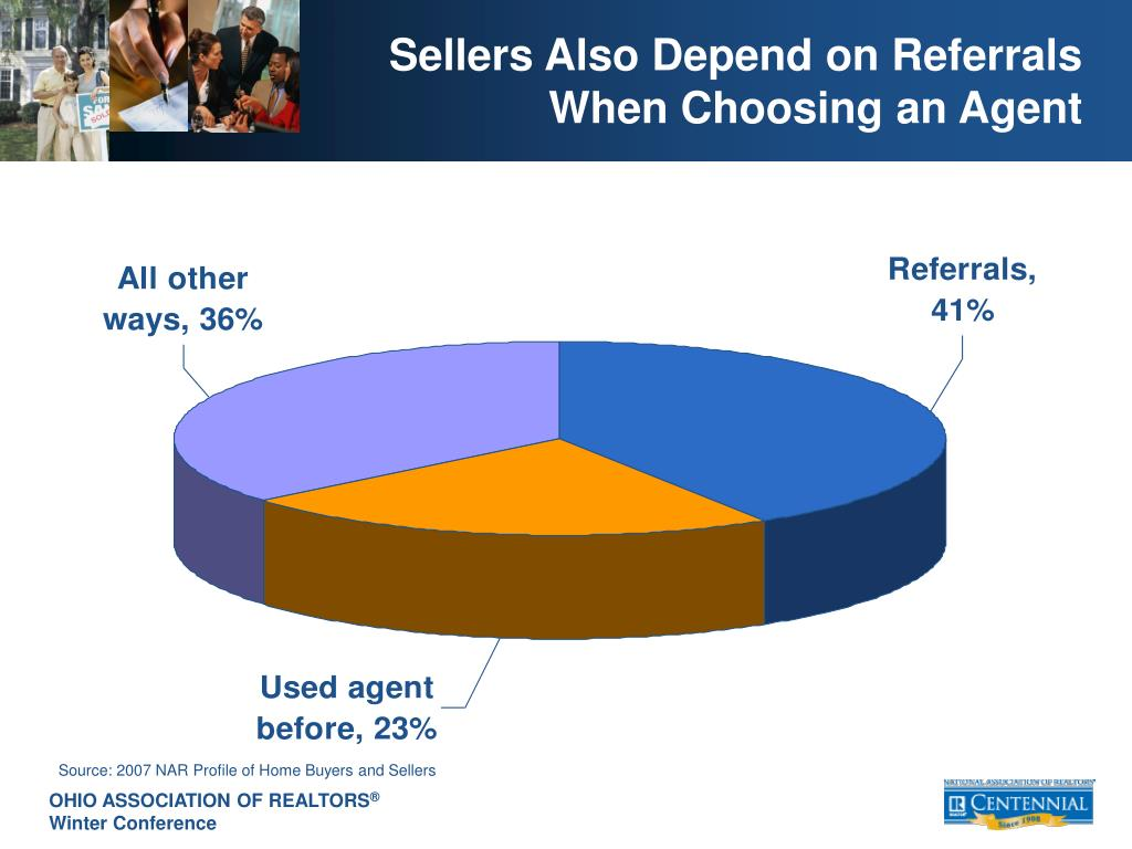 Sellers Also Depend on Referrals When Choosing an Agent