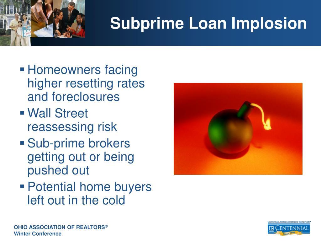 Subprime Loan Implosion