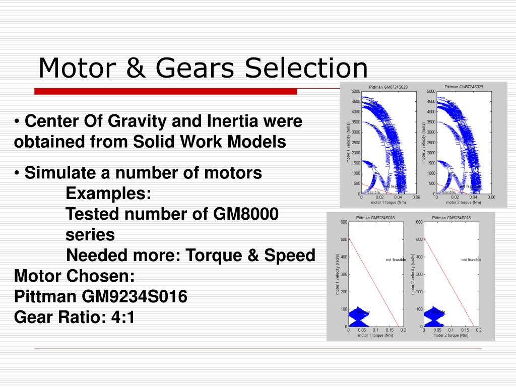 Motor & Gears Selection