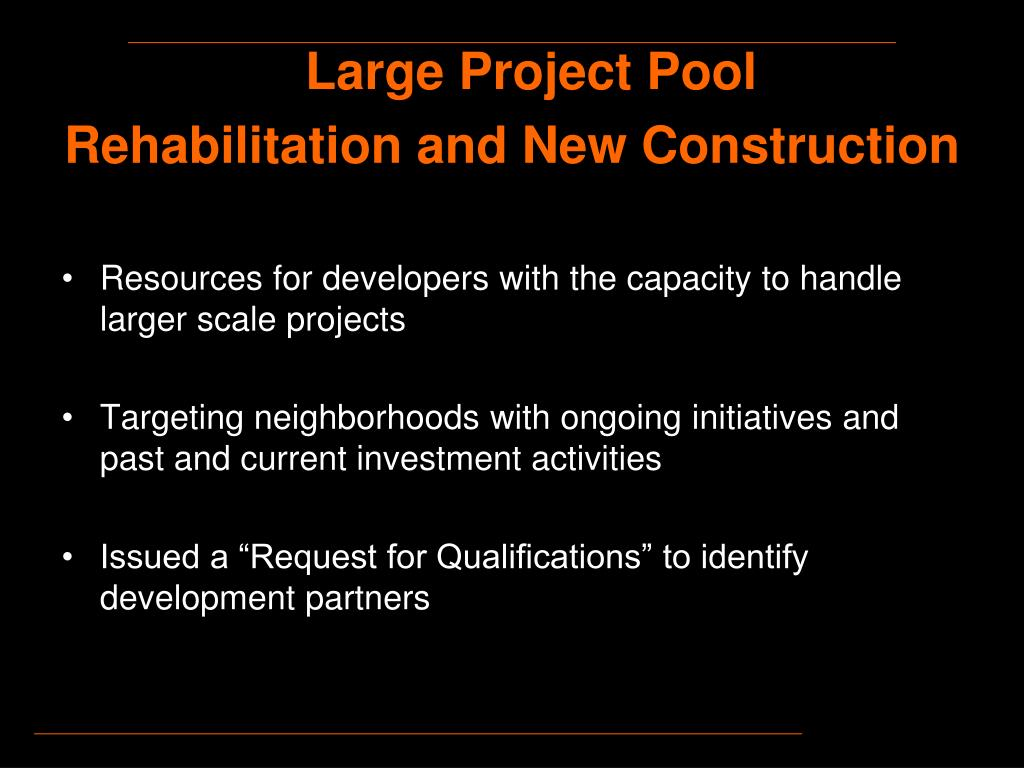 Large Project Pool
