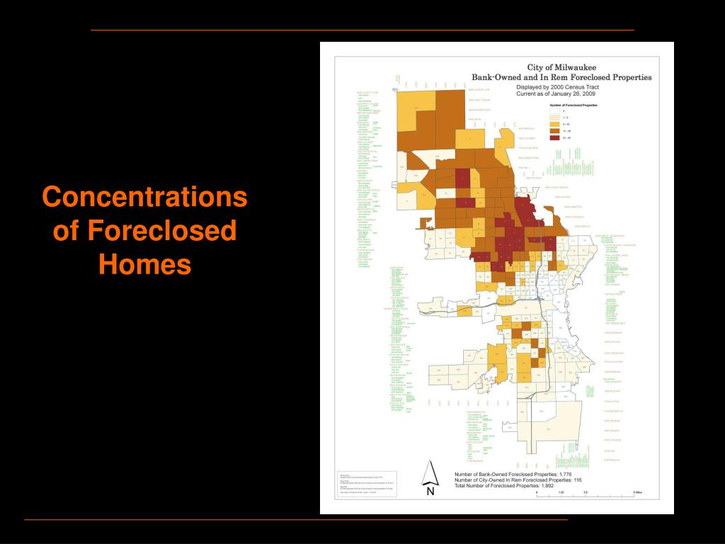Concentrations of Foreclosed Homes
