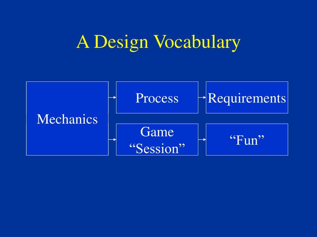 A Design Vocabulary