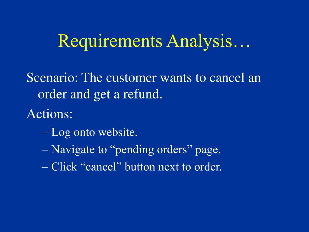 Requirements Analysis…