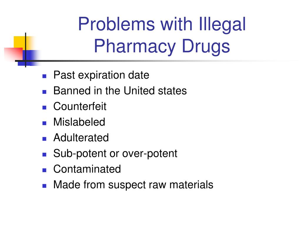 Problems with Illegal Pharmacy Drugs