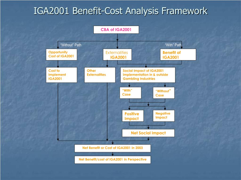 IGA2001 Benefit-Cost Analysis Framework