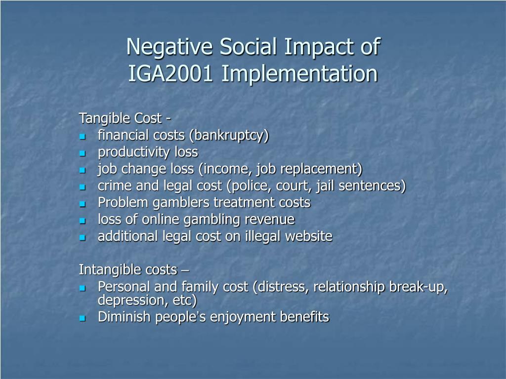 Negative Social Impact of