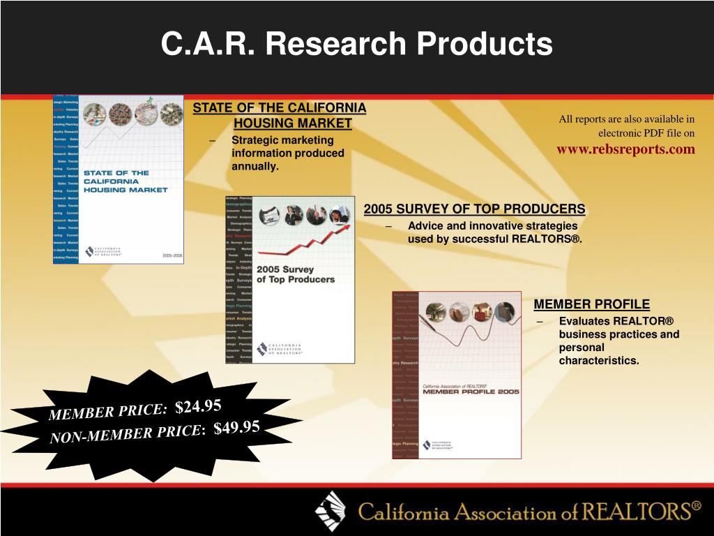 C.A.R. Research Products