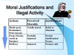 moral justifications and illegal activity