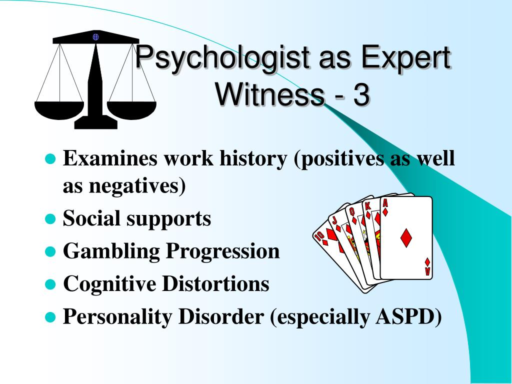 Psychologist as Expert Witness - 3
