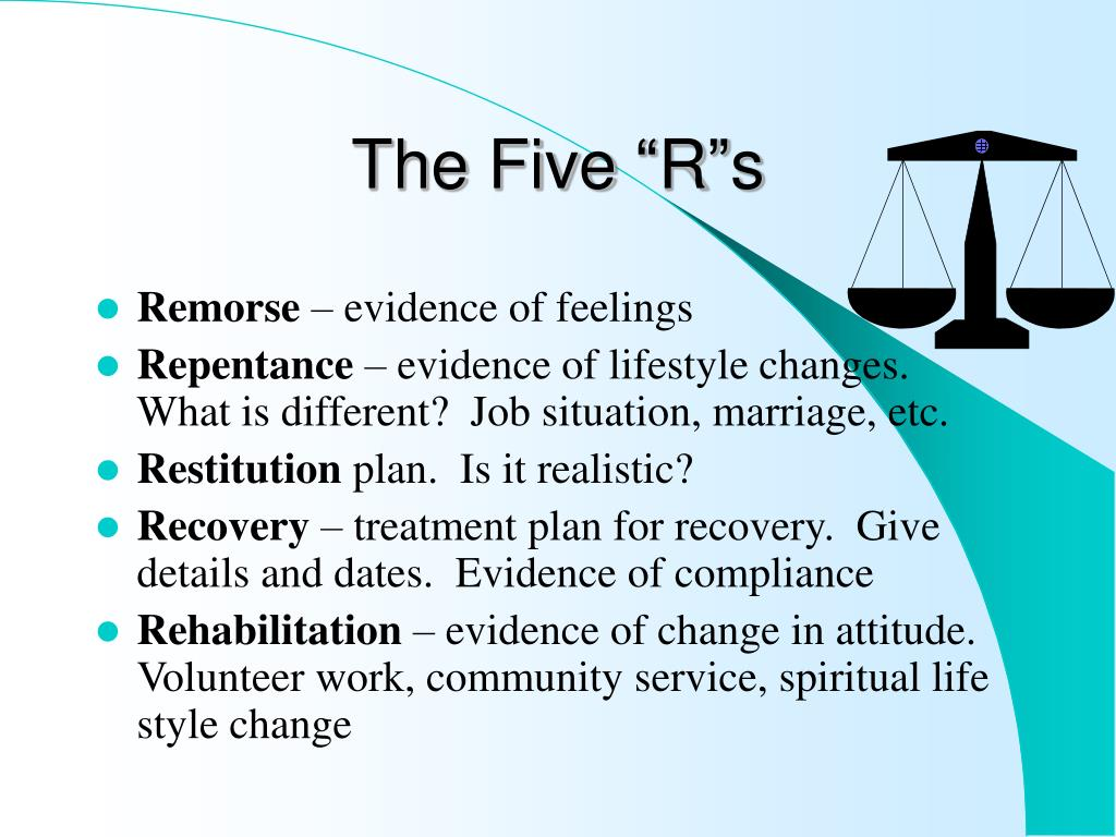 "The Five ""R""s"