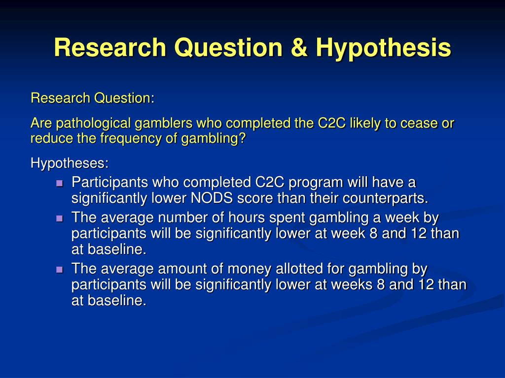 Research Question & Hypothesis
