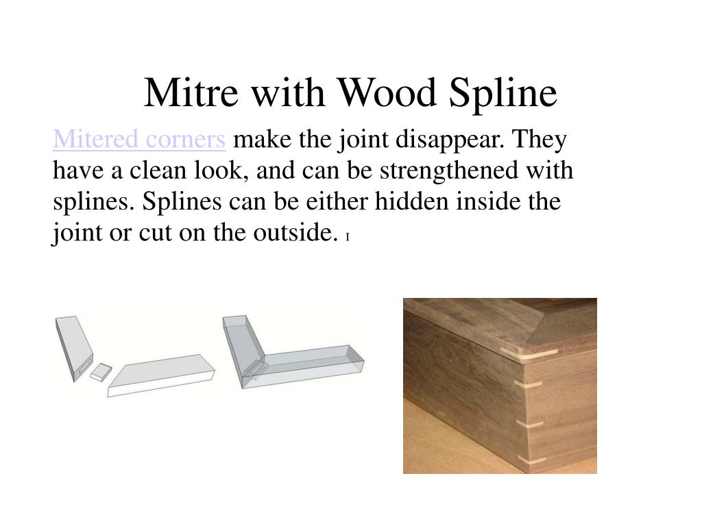 Mitre with Wood Spline