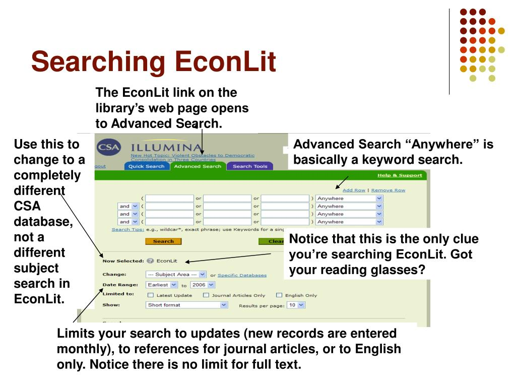 Searching EconLit