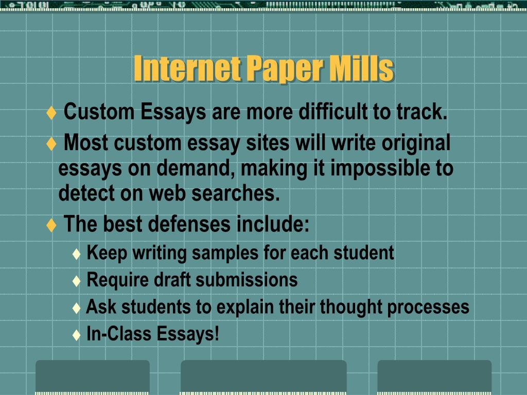 Essay mill writer