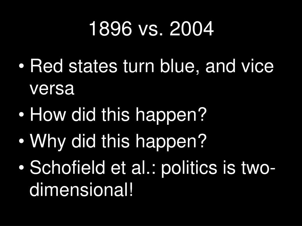 1896 vs. 2004