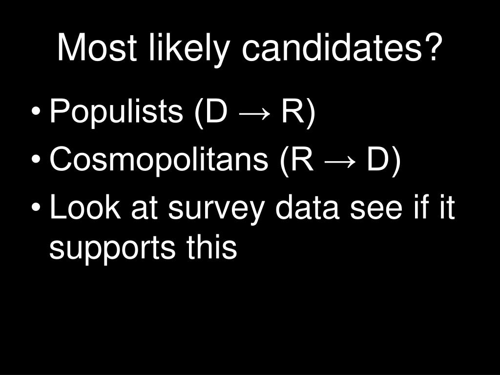 Most likely candidates?