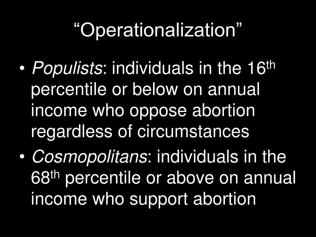 """""""Operationalization"""""""