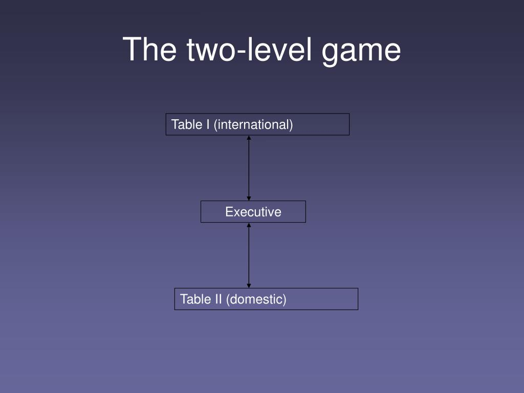 The two-level game