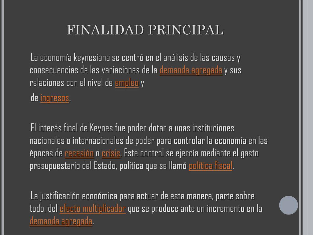 FINALIDAD PRINCIPAL