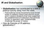ir and globalisation