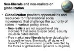 neo liberals and neo realists on globalization15