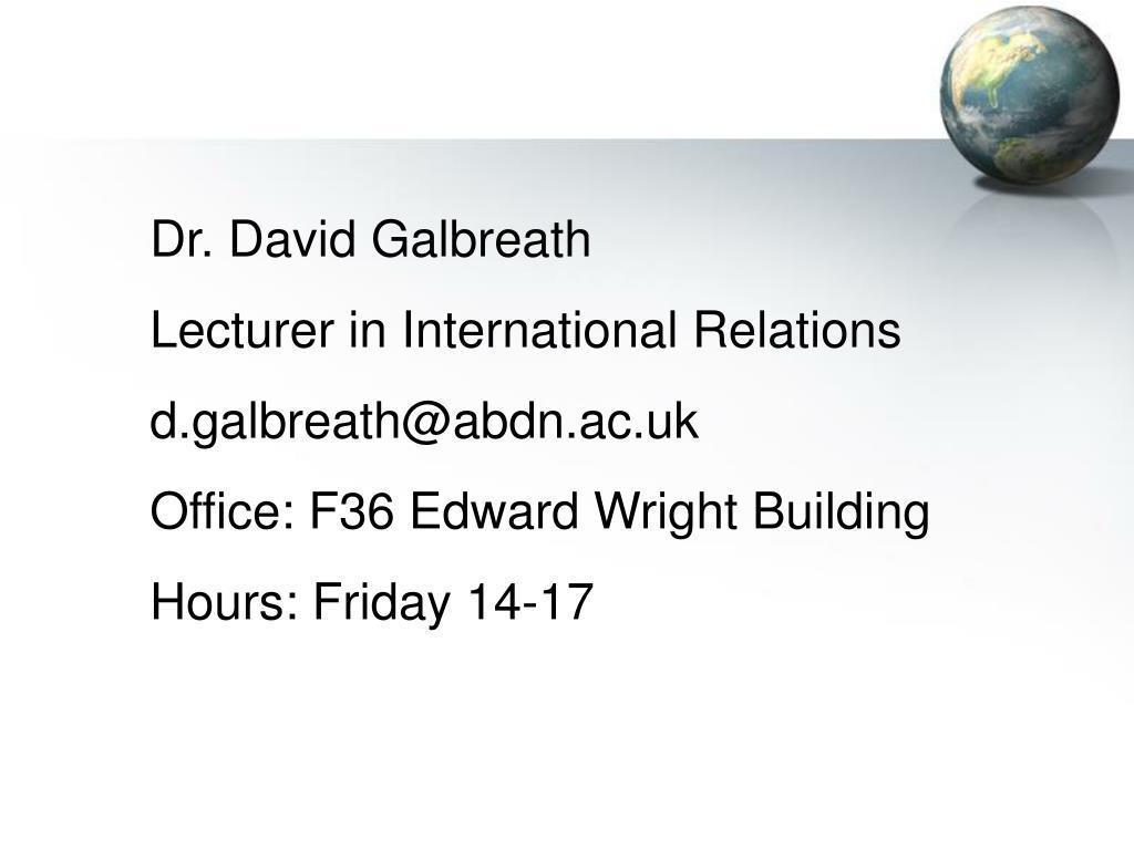 Dr. David Galbreath
