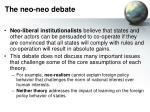 the neo neo debate12