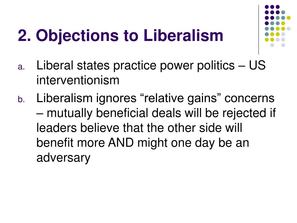 2. Objections to Liberalism