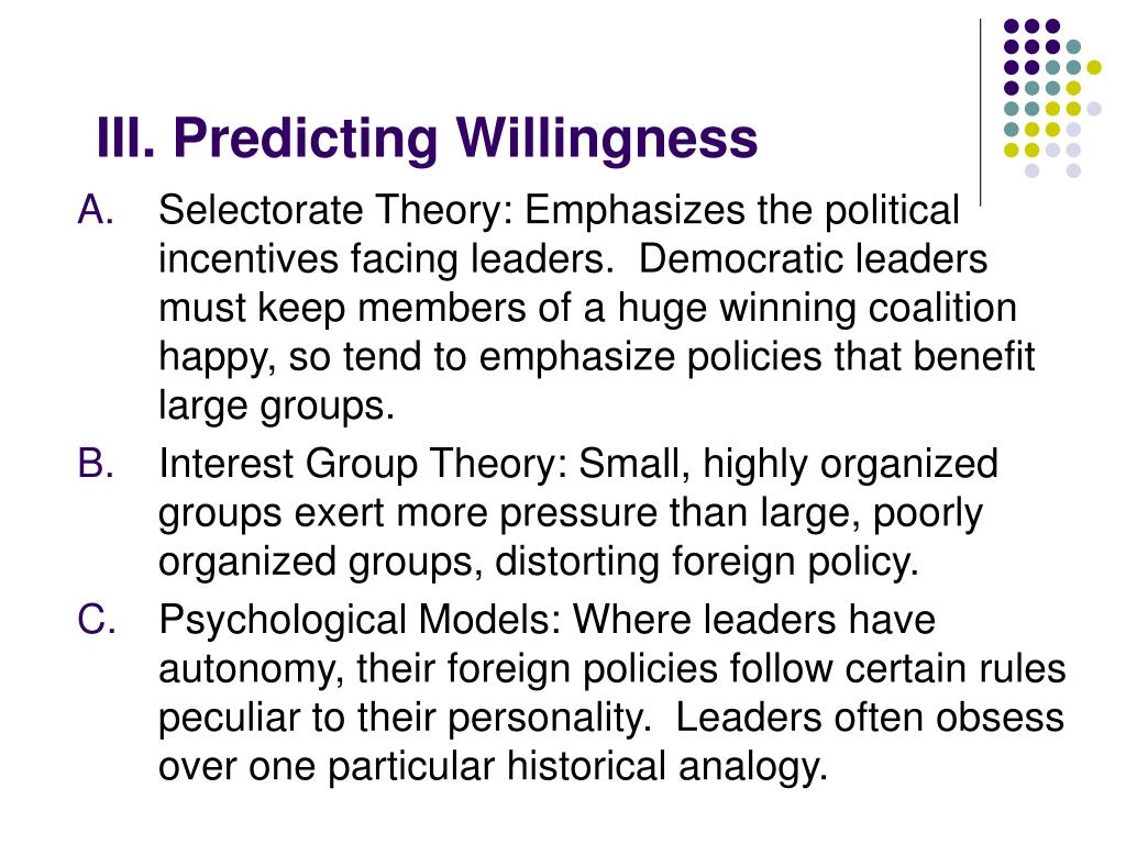 III. Predicting Willingness