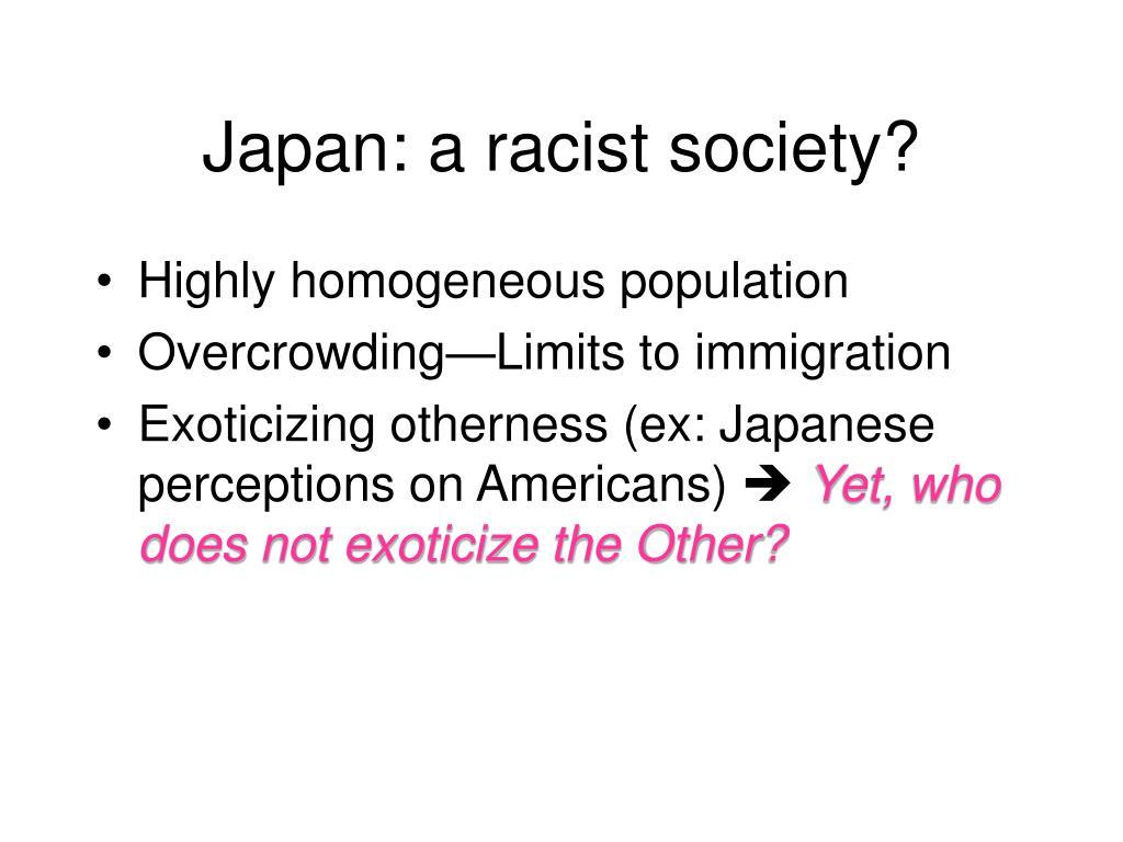 Japan: a racist society?