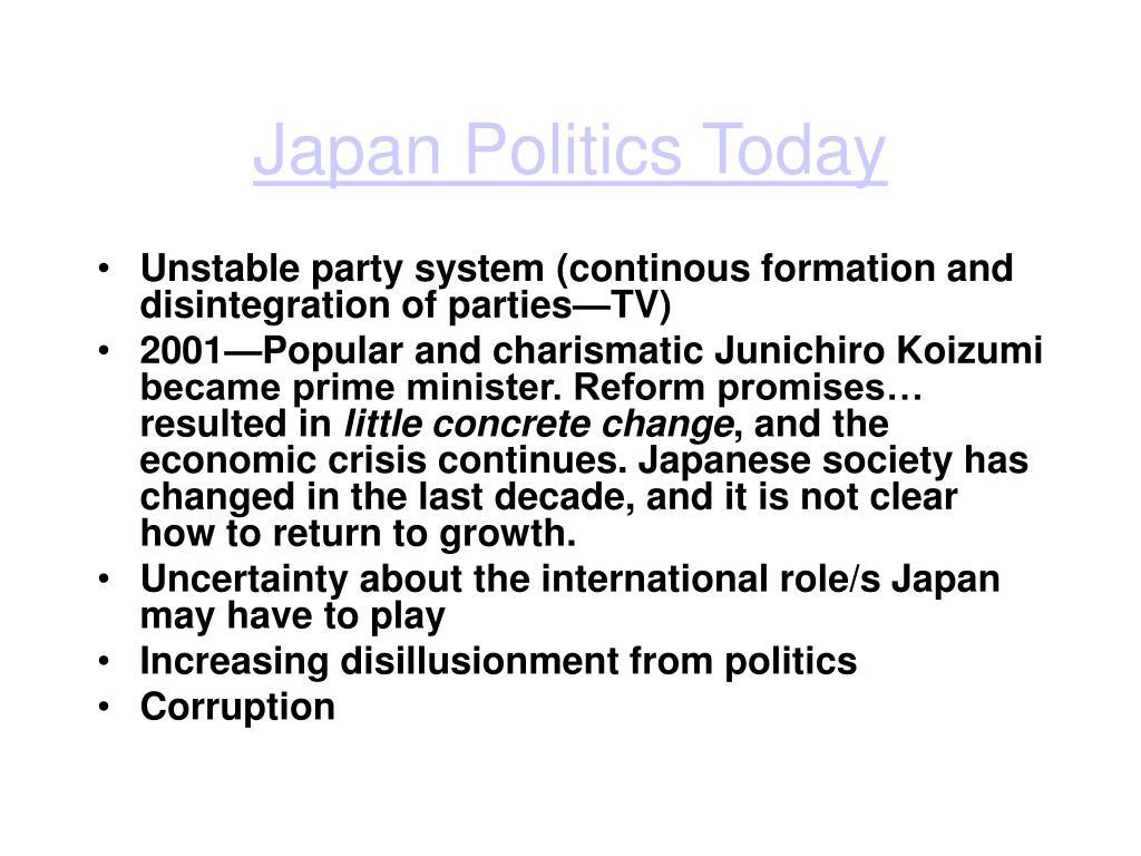 Japan Politics Today