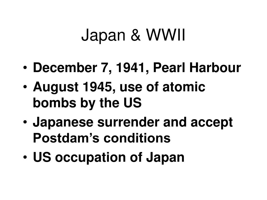 Japan & WWII
