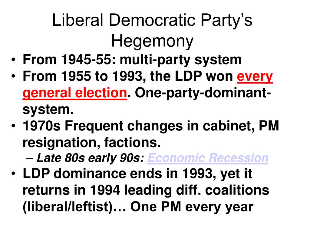 Liberal Democratic Party's Hegemony
