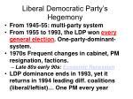 liberal democratic party s hegemony