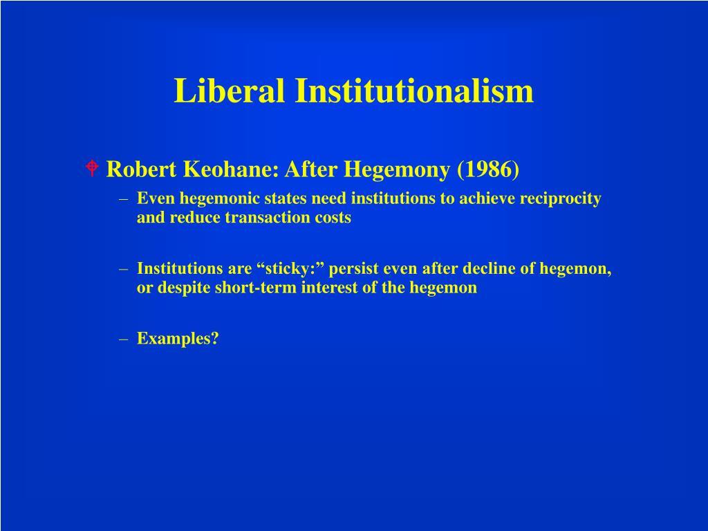 Liberal Institutionalism