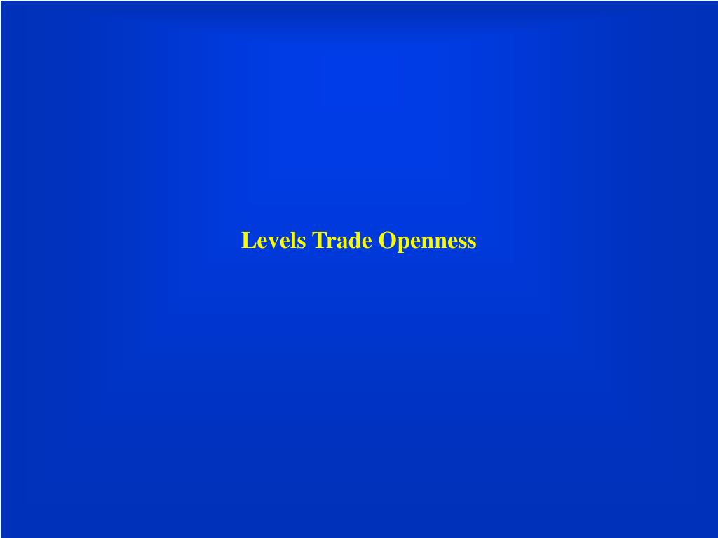 Levels Trade Openness