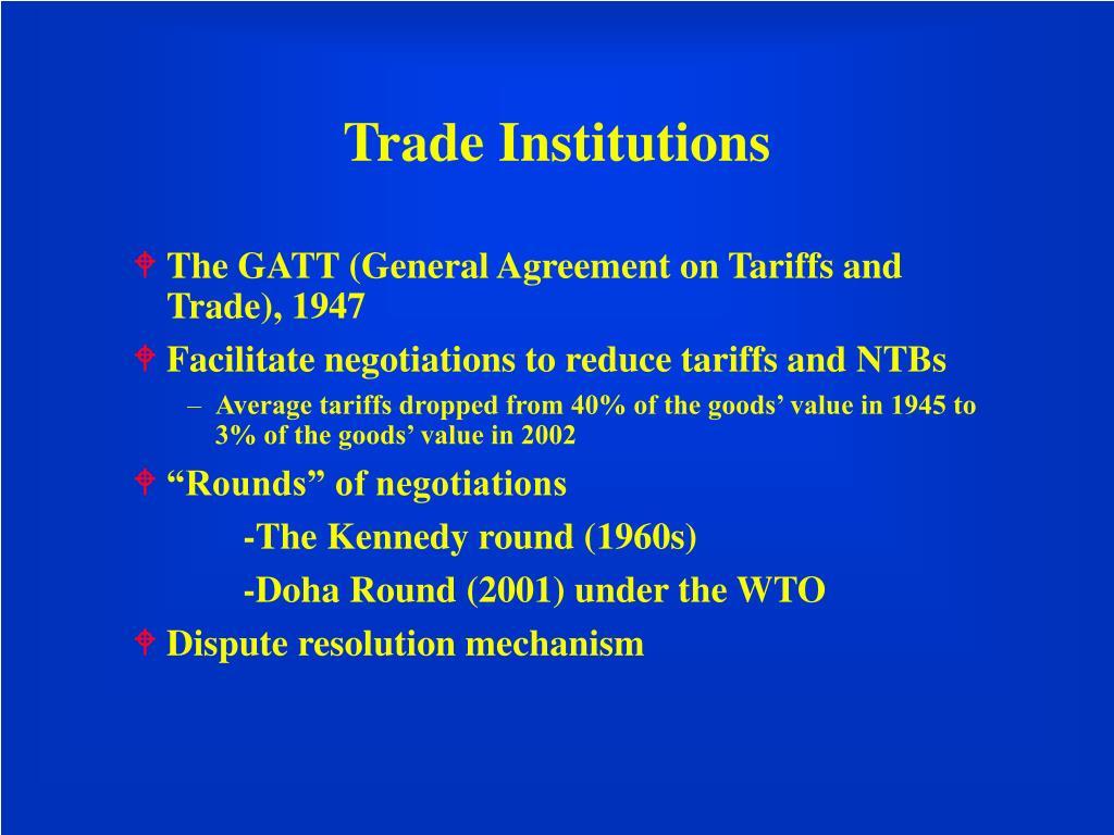 Trade Institutions