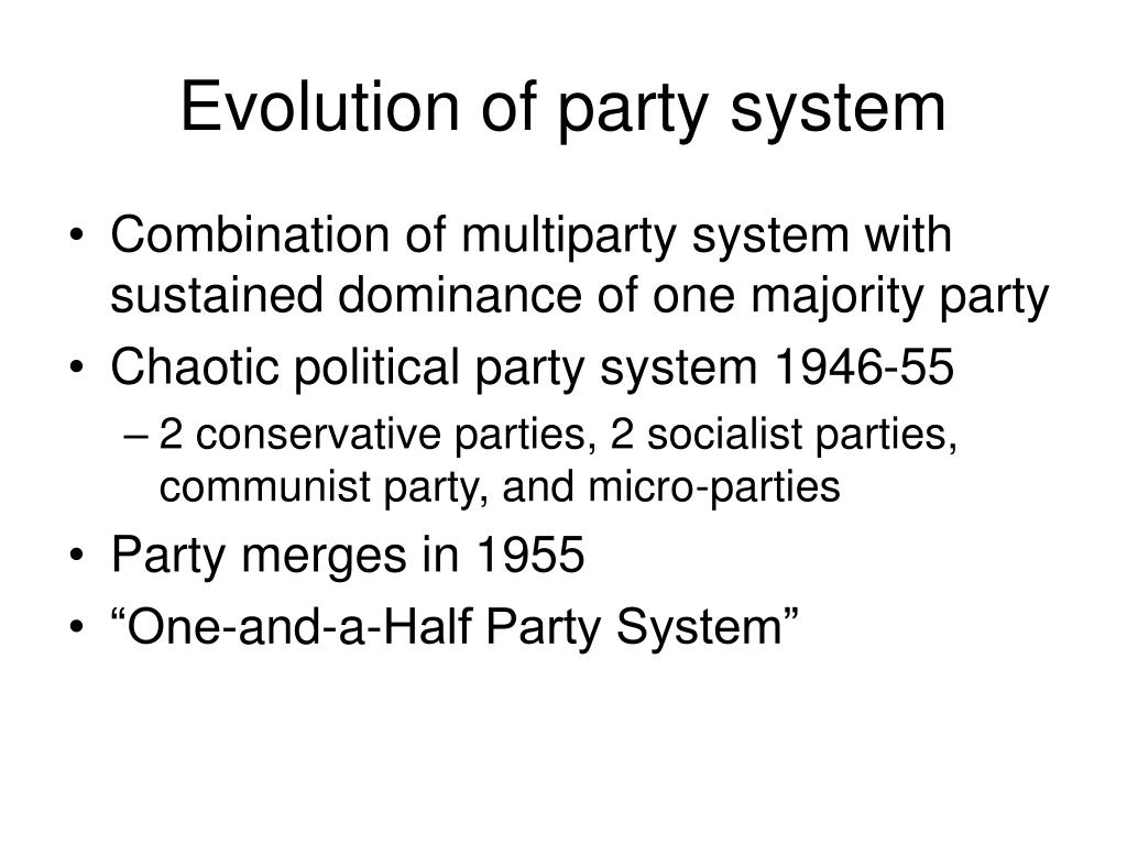 Evolution of party system