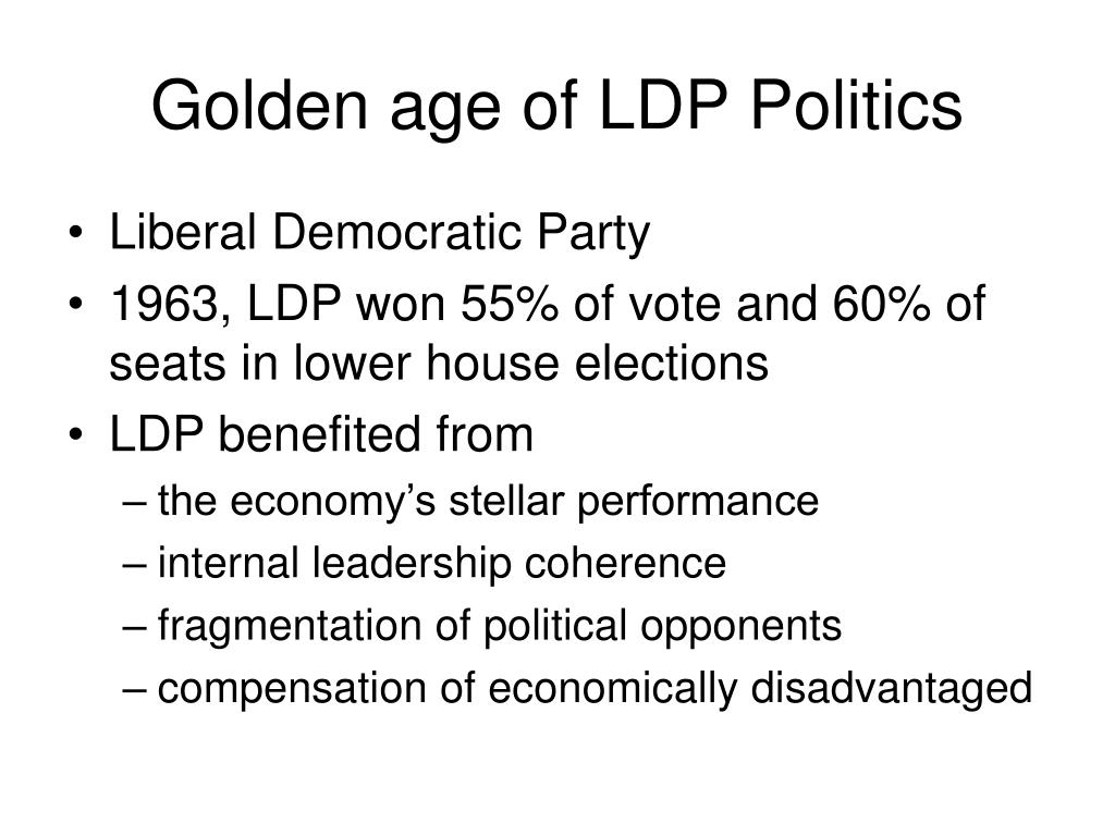 Golden age of LDP Politics