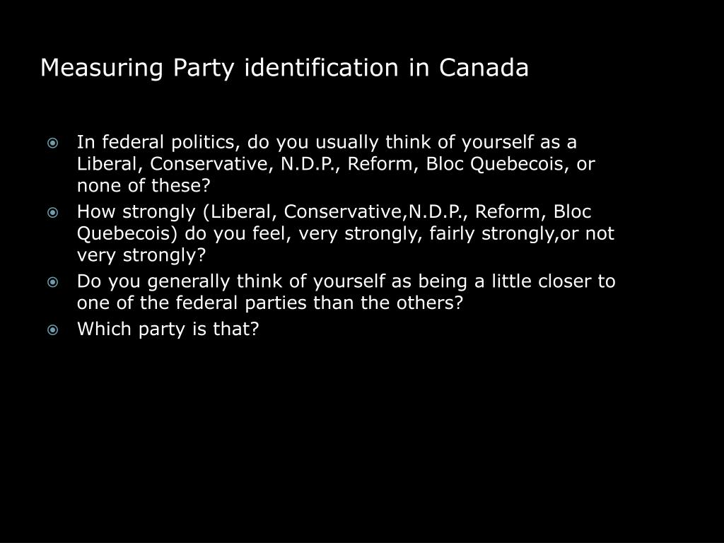 Measuring Party identification in Canada