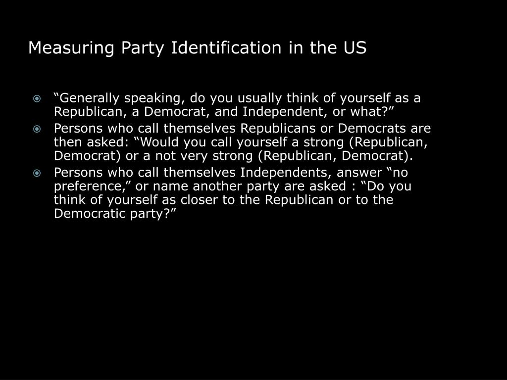 Measuring Party Identification in the US