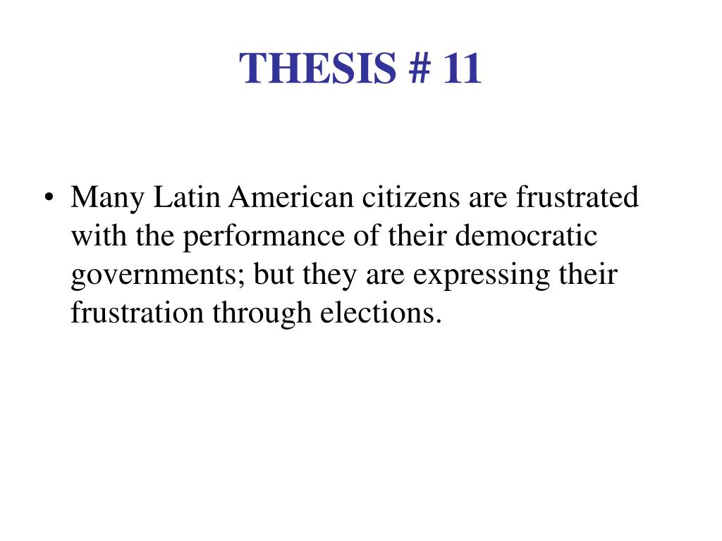 THESIS # 11
